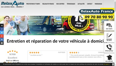 Site internet de Relaxauto
