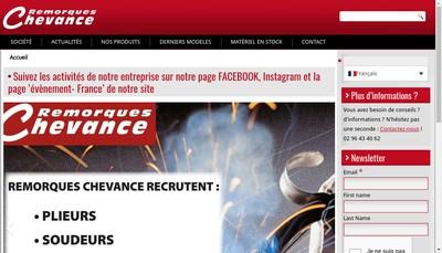 Site internet de Remorques Chevance
