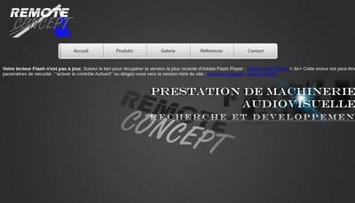 Site internet de Remote Concept