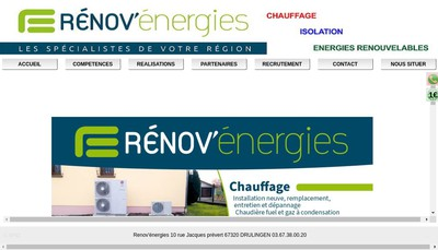 Site internet de Renov'Energies
