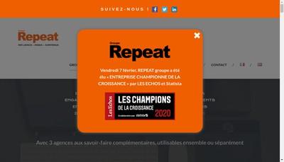 Site internet de Repeat