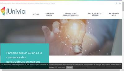 Site internet de Reseau Univia