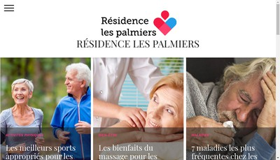 Site internet de Les Palmiers