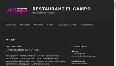 Site internet de El Campo