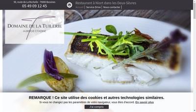 Site internet de Domaine de la Tuilerie Auberge Citadine