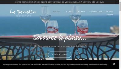 Site internet de SAS le Benetin