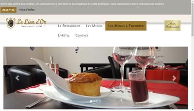 Site internet de Hotel du Lion d'Or