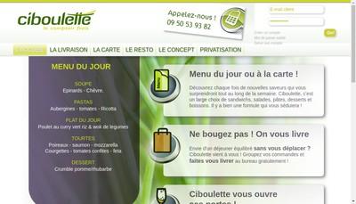 Site internet de Ciboulette