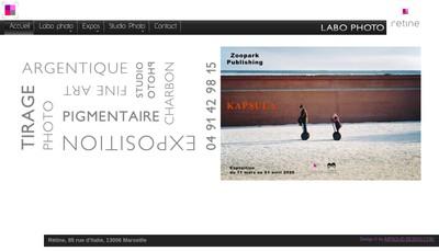 Site internet de Retine Argentique