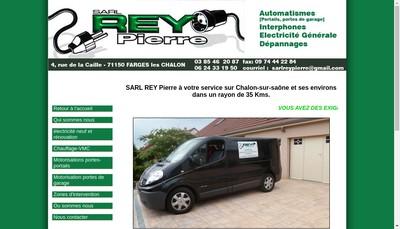 Site internet de SARL Rey Pierre