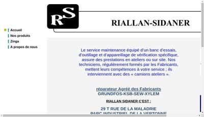 Site internet de SARL Riallan-Sidaner