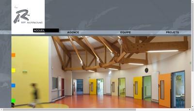 Site internet de Riff Architectures