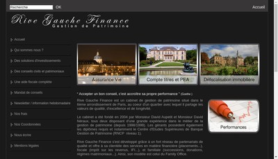 Site internet de Rive Gauche Finance
