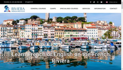 Site internet de Riviera French Institute