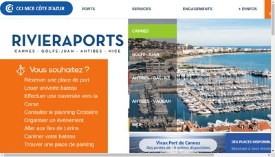 Site internet de Port Gallice Gestion Port Plai
