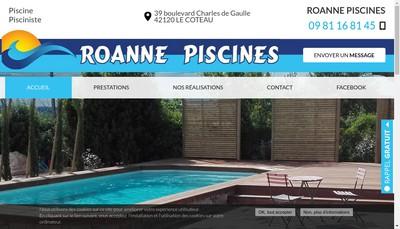 Site internet de Roanne Piscines