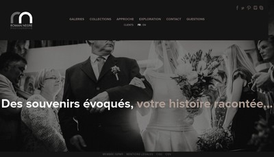 Site internet de Romain Negre Photographie