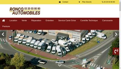 Site internet de Roncq Automobiles Locations