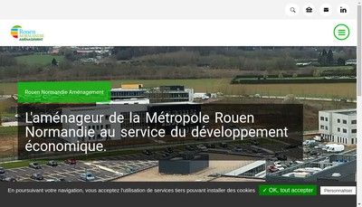 Site internet de Spl Rouen Normandie Amenagement