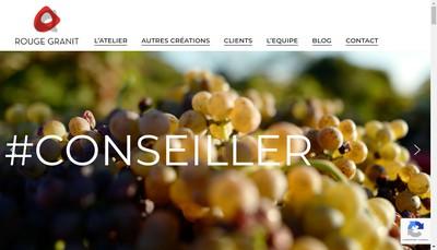 Site internet de Rouge Granit