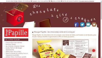 Site internet de Rouge Papille