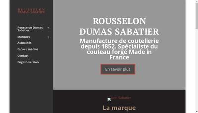 Site internet de Rousselon Dumas Sabatier