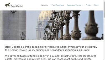 Site internet de Roux Capital