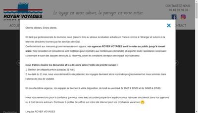 Site internet de Autocars Royer