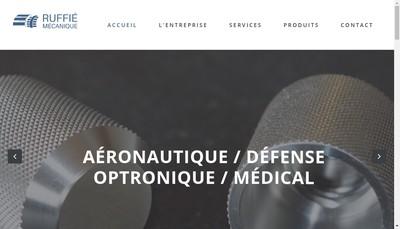 Site internet de Ruffie Mecanique