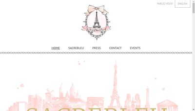Site internet de Sacrebleu Paris