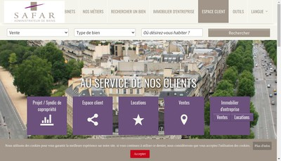 Site internet de Safar