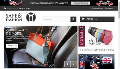 Site internet de Safe And Fashion