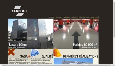 Site internet de Saga Plus