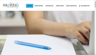 Site internet de Sagitta Pharma