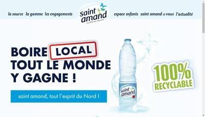 Site internet de Societe des Eaux Minerales de Saint Amand