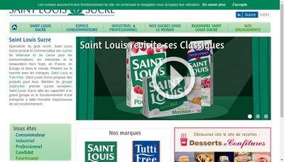 Site internet de Saint Louis Sucre