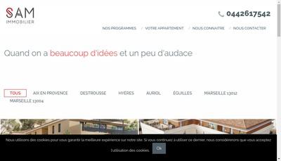 Site internet de Sam Immobilier