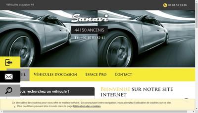 Site internet de Sanavi Ancenienne Negoce Autos