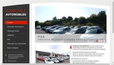 Site internet de Sanchez Automobile