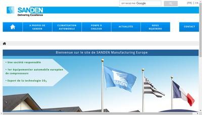 Site internet de Sanden Manufacturing Europe