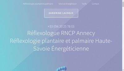 Site internet de Sandrine Lacroix