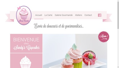 Site internet de Sandy'S Cupcakes