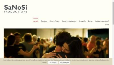 Site internet de Sanosi Productions