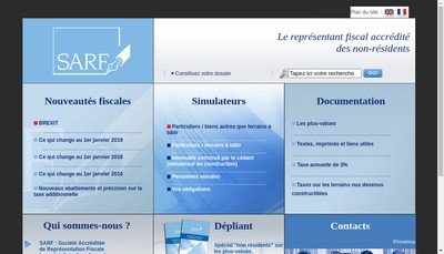 Site internet de Societe Accreditee Repres Fisc