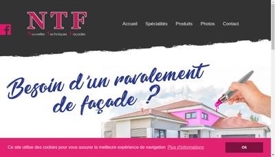 Site internet de Nouvelles Techniques de Facades