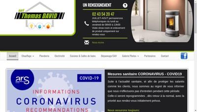 Site internet de Thomas David