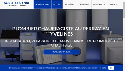 Site internet de SAS le Cozannet