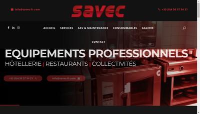 Site internet de Savoisienne Equipement de Cuisine Savec