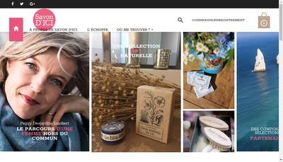 Site internet de Savon d'Ici