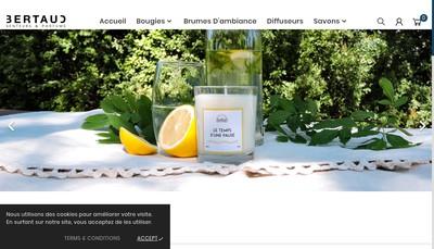 Site internet de Savonnerie Bertaud